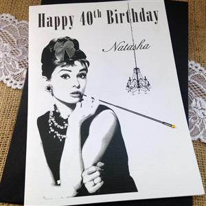 Audrey Birthday Card for Her