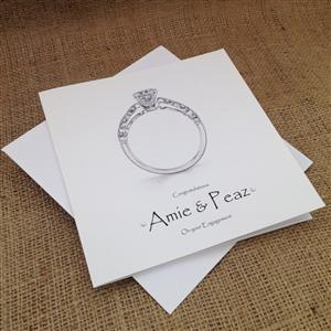 Diamond Ring Engagement Card | Personalised Cards | MyGiftGenie