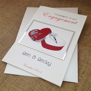 Ring in Red Box Engagement Card | Personalised Cards | MyGiftGenie