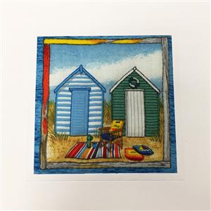 Seaside Huts Quilted Card | Cards for all Occasions | MyGiftGenie