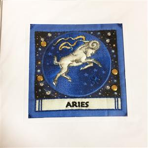 Aries Quilted Birthday Card | Birthday Cards | MyGiftGenie