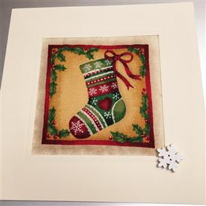 Christmas Stocking Quilted Card