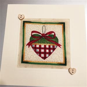 Christmas Heart Quilted Card | Christmas Card | MyGiftGenie