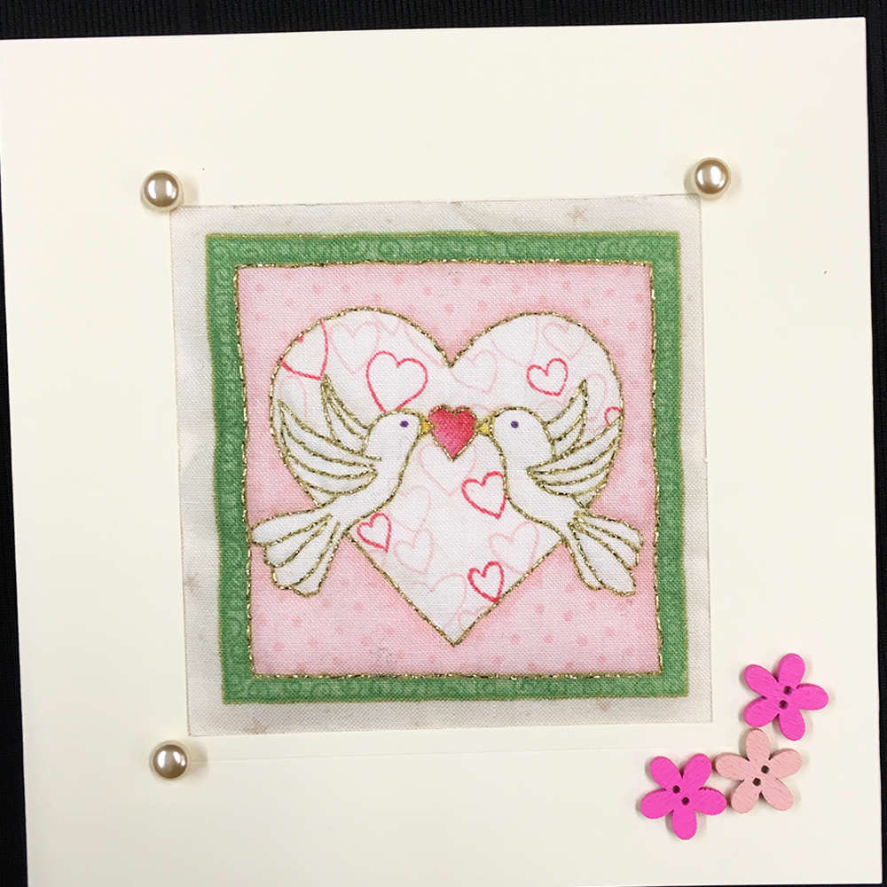 Love Birds Quilted Card