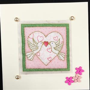 Love Birds Quilted Card | Cards for all Occasions | MyGiftGenie