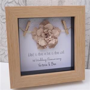 Personalised Framed 1st Paper Anniversary Gift | MyGiftGenie
