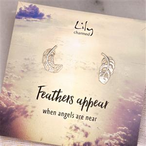 Silver Feather Stud Earrings | Gifts for Her | MyGiftGenie
