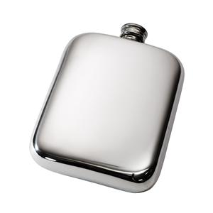 6oz Plain Pewter Pocket Flask