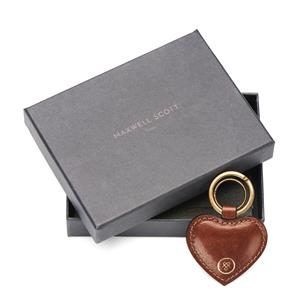 Personalised Leather Heart Key Ring | Gifts for Her | MyGiftGenie