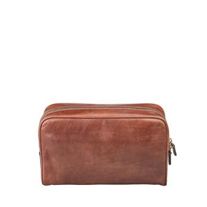 Personalised Leather Washbag