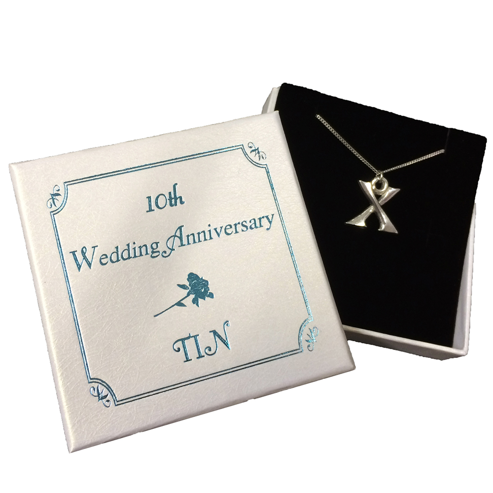 Iron Anniversary Gifts For Women: Roman Numeral Tin Necklace