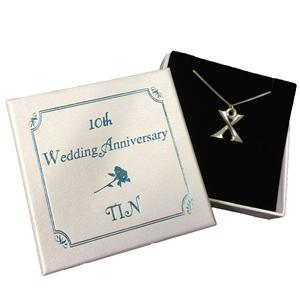 Roman Numeral Tin Necklace | 10th Anniversary | MyGiftGenie
