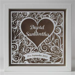 Anniversary Personalised Framed Papercut | MyGiftGenie