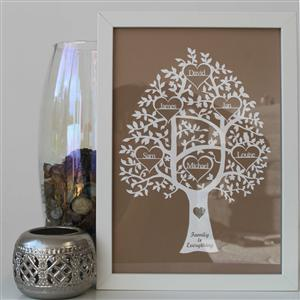 Personalised Family Tree Papercut | MyGiftGenie