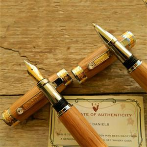 Whiskey Barrel Fountain Pen gift set