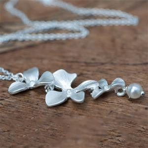 Orchid & Pearl Necklace | Gifts for Her | MyGiftGenie