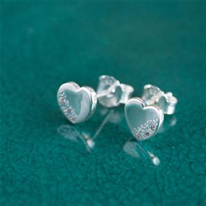 Sterling Silver Moon & Stars Heart Earrings | MyGiftGenie