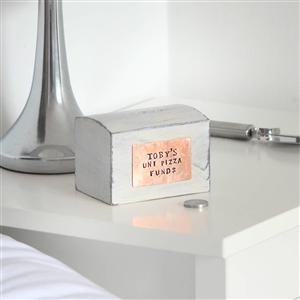Personalised Copper on Money Box| 7th Anniversary Gift | MyGiftGenie
