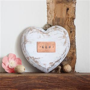 Personalised Hanging Wood Heart | Valentines Gift | MyGiftGenie