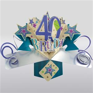 40th Birthday Popup 3D Card| MyGiftGenie