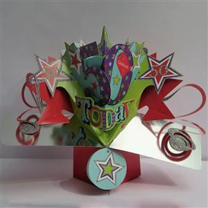 50th Birthday Popup 3D Card | MyGiftGenie