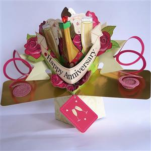 Happy Anniversary Popup 3D Card | MyGiftGenie