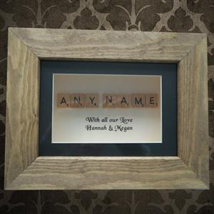 Personalised Scrabble in Wooden Frame