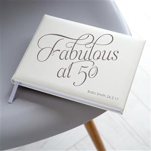 Personalised Fabulous at 50 Guest Book