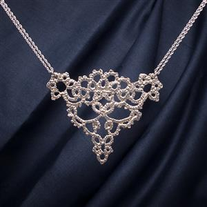 Cornucopia Silver Lace Necklace | 13th Anniversary | MyGiftGenie