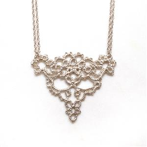 Cornucopia Silver Lace Necklace  in box | 13th Anniversary | MyGiftGenie
