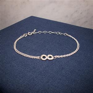 Silver Lace Infinity Bracelet | 13th Anniversary | MyGiftGenie