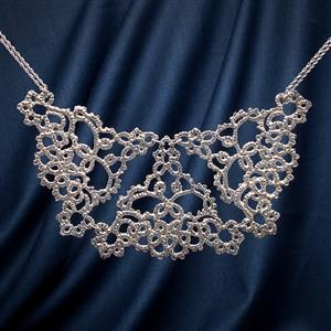 Opulence Silver Lace Necklace | 13th Anniversary | MyGiftGenie