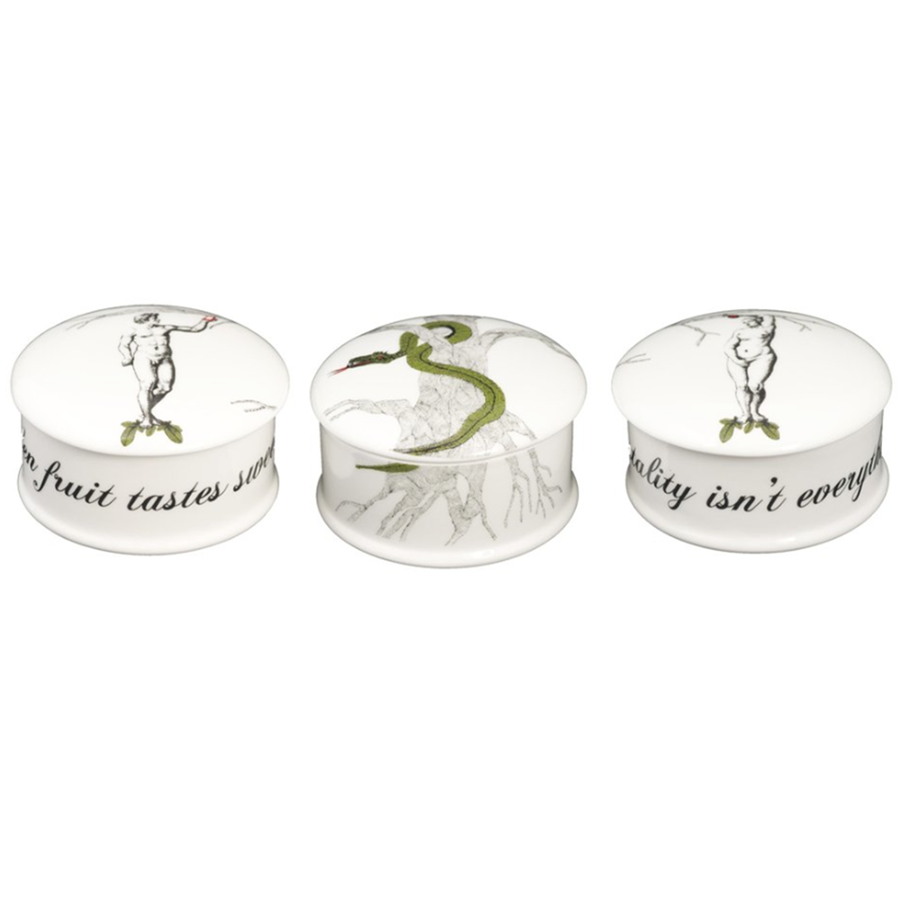 What Is The Gift For 20th Wedding Anniversary: Adam And Eve Bone China Trinket Boxes