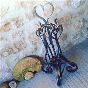 Heart Fireplace 4 piece Companion Set | Iron Gifts | MyGiftGenie