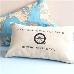 Favourite Place Personalised Map Cushion | 2nd Anniversary Gift | MyGiftGenie