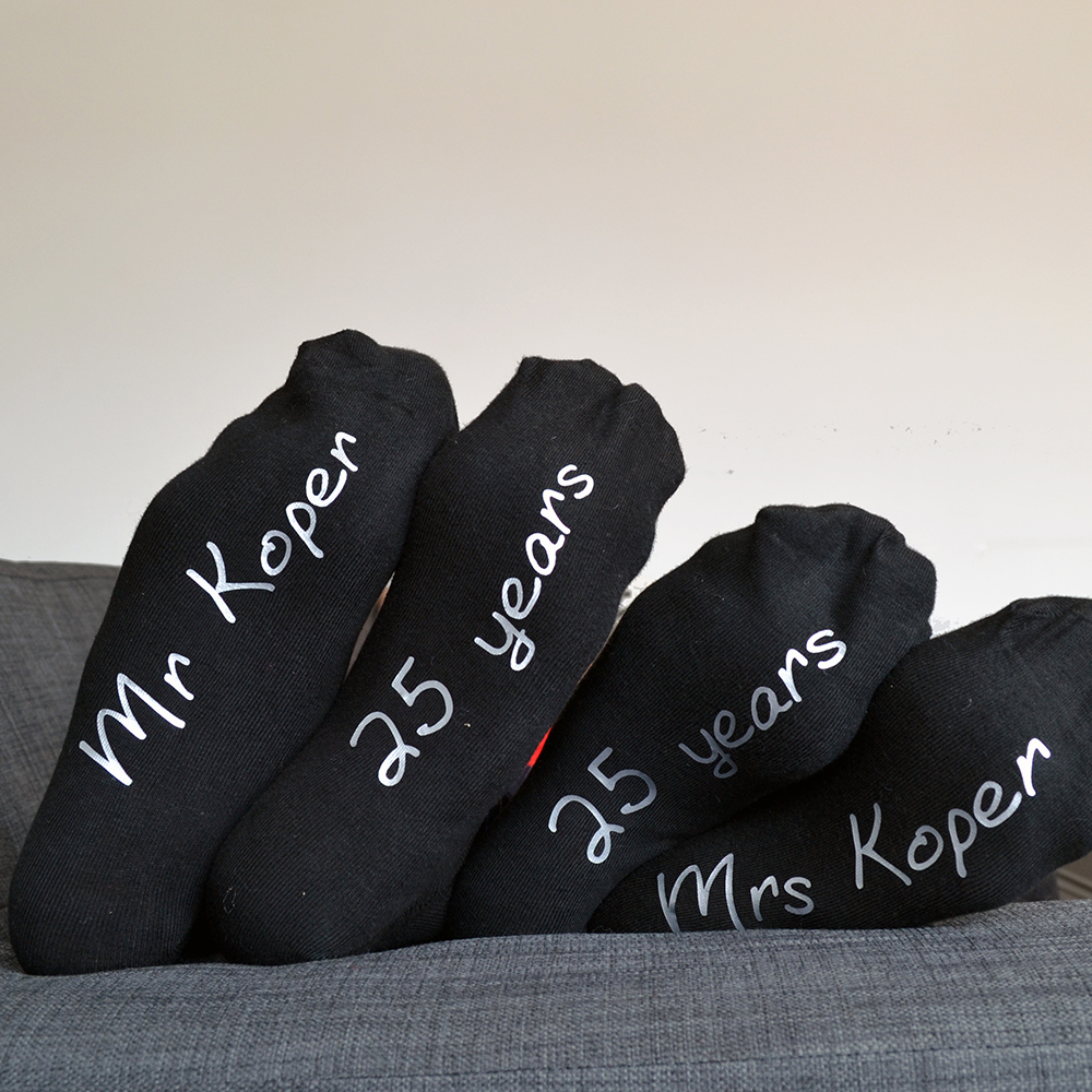 16 Year Wedding Anniversary Gift Ideas For Him: His And Hers Personalised Anniversary Socks