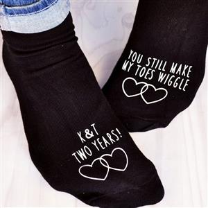 Personalised Socks - You Still Make My Toes Wiggle | Anniversary Gift | MyGiftGenie