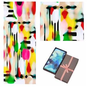 Colourful Modern Art 100% Silk Scarf | 12th Anniversary | MyGiftGenie