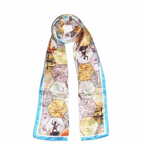 London Attractions 100% Silk Scarf | 12th Anniversary | MyGiftGenie