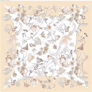 Wild Flower and Butterflies 100% Silk Scarf | 12th Anniversary | MyGiftGenie