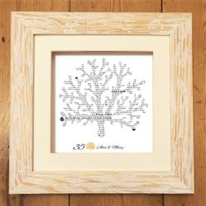 Personalised Coral Print | 35th anniversary | MyGiftGenie