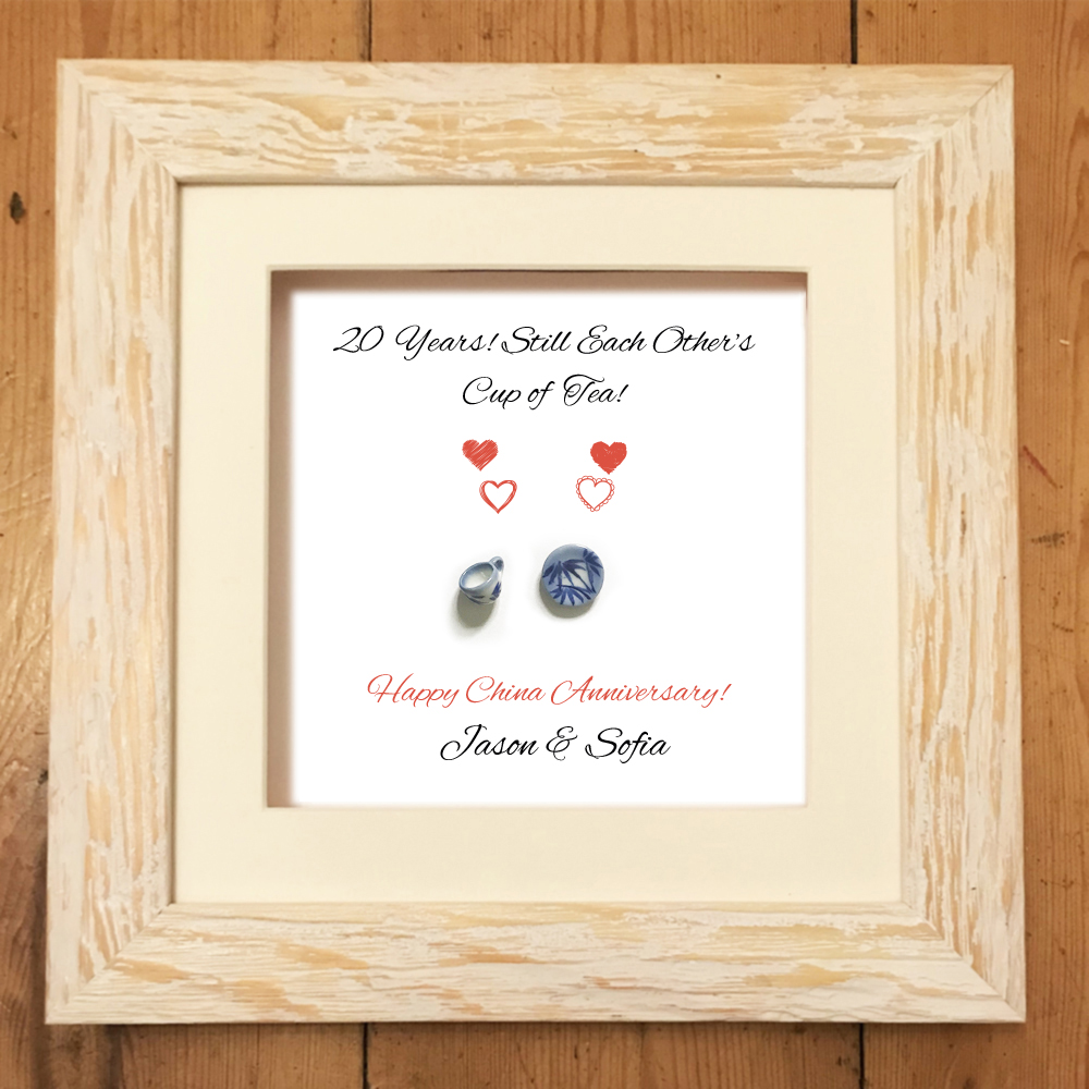 20th Anniversary Traditional Gift: Personalised China Print