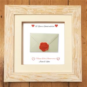 Personalised wax Print | 16th anniversary | MyGiftGenie
