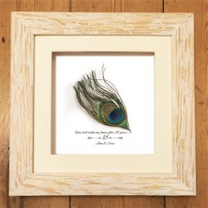 Personalised Feather Print | 18th anniversary | MyGiftGenie