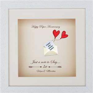 Personalised Paper Print | 1st anniversary | MyGiftGenie