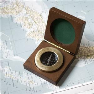 Personalised Brass Compass | 8th anniversary gift | MyGiftGenie
