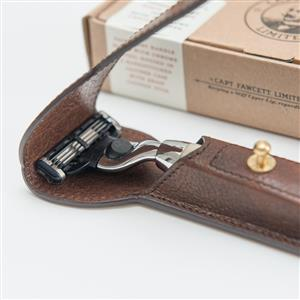 Razor and Handcrafted Leather Case | Gifts for Him | MyGiftGenie