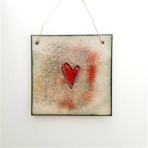 Love Heart Copper Enamel Wall Hanging | 7th Anniversary Copper Gift | MyGiftGenie
