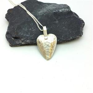 Solid Silver Heart Pendant | Gifts for Her | MyGiftGenie