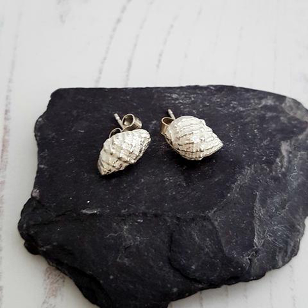 earrings shell urchin fullxfull eco listing fine stud sea silver seashell zoom il cast